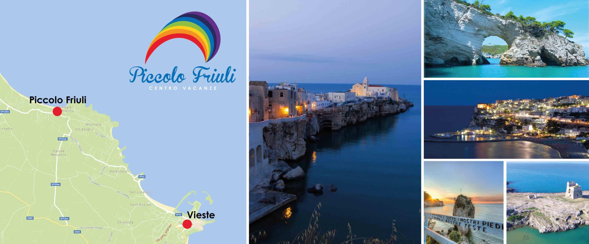 collage Vieste e indicazioni Piccolo Friuli